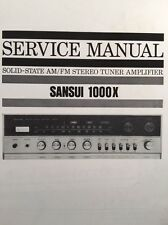 "Sansui 1000x Stereo Receiver ""Original Vintage"" Service Manual 27 Pages. 1000 x"