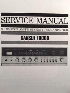 "Sansui 1000x Stereo Receiver ""Original Vintage"" Service Manual 27 Pages. 1000 x"