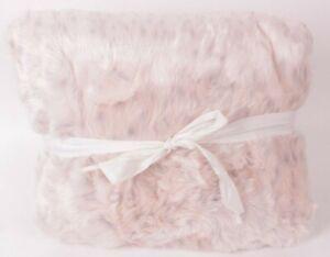 Pottery Barn PB Teen Faux Fur large Beanbag chair slip cover, blush leopard pink