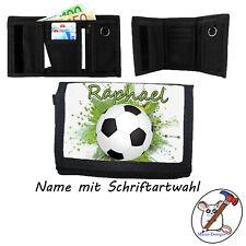 Fußball Geldbörse mit Name, Geldbeutel, Klettverschluss, Name + Schriftartwahl