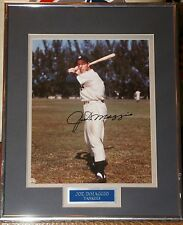 JOE DIMAGGIO AUTOGRAPH 8X10 NEW YORK YANKEES COA FRAMED MATTED HALL OF FAME HOF