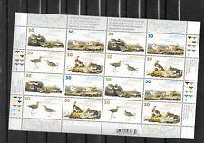 pk33027:Stamps-Canada #2098a Audubon Birds 16 x 50 cent Sheet-MNH
