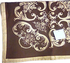 "Brand New Chocolate Classic Provencal Design Jacquard 72"" Square Tablecloth"