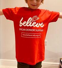 2019 Believe Organ Donor Support T-Shirt (Follow The Bear)  - Various Sizes