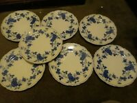 """Set 7 Royal Meissen Fine China of Japan Lugged Bread Plates 6 1/2"""" Excellent"""