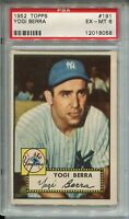 1952 Topps Baseball #191 Yogi Berra Card FTC Graded PSA Ex Mint 6 Yankees