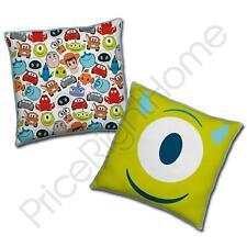 Disney Pixar Emoji Square Cushion Reversible Design Mike Wazowski Toy Story Cars