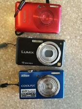 Lot of 3 Digital Cameras Untested & Sold AS IS -- Nikon, Lumix, Canon 12 & 12.1