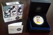 "France 10 euro Silver Proof Colored Disney Coin 2016 ""Mickey through the Ages"""