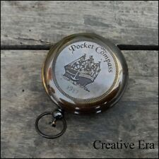 SOLID BRASS PUSH BUTTON COMPASS *STANLEY LONDON SHIP POCKET COMPASS GIFT.