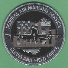 UNITED STATES FEDERAL AIR MARSHAL CLEVELAND OHIO FIELD OFFICE PATCH GRAY