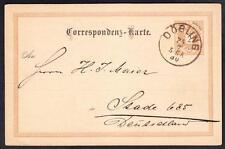 Dobling Austria 1890 Postal Card Postal History Cover