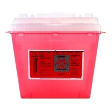 Bemis Bio Hazard Sharps Needle Disposal Container Red 5 Quart Phlebotomy