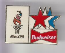 RARE PINS PIN'S ..OLYMPIQUE OLYMPIC ATLANTA 96 USA BIERE BEER BUDWEISER LOGO ~18