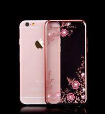 Flower Bling Glitter Diamond Sparkly Soft Gel Case Cover For iPhone X 8 7 6 5s 5