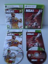 Lot de 2 Jeux XBOX 360 NBA 2 K 10 et 12 Basket Bryant / Jordan