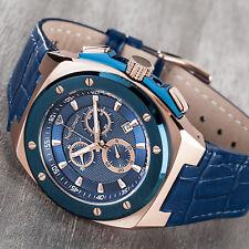 Yves Camani Uomo-orologio da polso Quintinocon Cronografo Rose Gold/blue Luenett