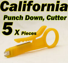 5 X Punch Down Cutter Cable UTP Stripper Tools LAN RJ45 Network CAT5 CAT6 CAT3