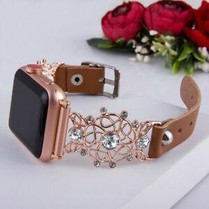 Crystal Diamond Bracelet Watch Band Strap For Apple iWatch Series SE 6 5 4 3 2 1