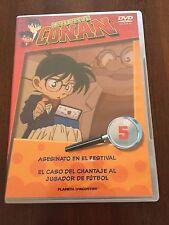 DETECTIVE CONAN DVD 5 - 1 DVD - 2 CAPS - 50 MIN - JONU MEDIA PLANETA DEAGOSTINI