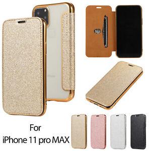Glitter Leather Case Flip S20 TPU Phone Case Transparent Protective Case