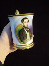 Antique 19th. Century RUSSIAN PORCELAIN PORTRAIT CABINET CUP &  SAUCER,