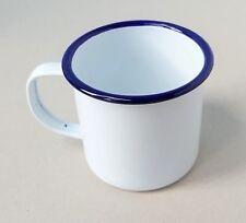 White Enamel Cups  Mug Metal Cup Camping Picnic Vintage Style Caravan 8cm
