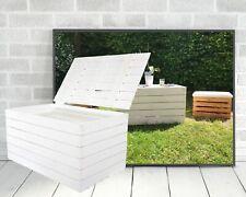 Weiße Truhe aus Holz mit Deckel /  praktisch zum Aufbewahren, Holztruhe