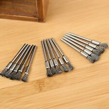 """15Pcs Sliver Steel 1/8"""" Shank Wire Cup Brush Fit Power Rotary Tools Die Grinder"""