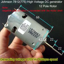 1PCS For Johnson 7812 7600RPM DC220V High-voltage Wind Turbine Generator for DIY