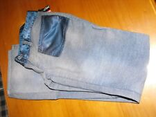 $230 Diesel Womens Hush Corduroy Pants 27 Blue Trouser Bootcut Made in Italy