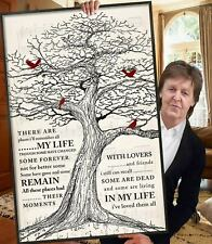 The-Beatles In My-Life-Song Lyrics Print Wall Art Home Decor Poster Gift