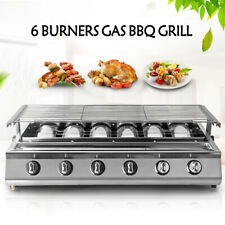 6Burners LPG Gas BBQ Grill Outdoor Barbeque Cooker Fit For Picnic Family Party