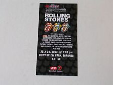 The Rolling Stones Canada Rocks Toronto Authentic Concert Ticket 6.30.03