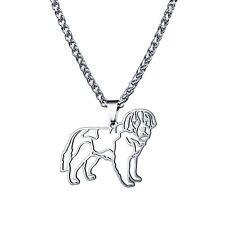 Stainless Steel Saint St Bernard Dog Bernhardshund Alpine Mastiff Charm Pendant