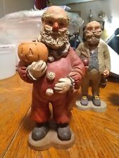 Vintage Sarahs Attic Resin Collectible Figurine Halloween Clown Santa 1988 #414