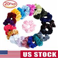 20Pack Women Girl Hair Scrunchies Velvet Elastic Hair Bands Scrunchy Rope Ties