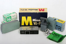 Minolta-16 Ps SubMiniature 16mm Camera Outfit with original box