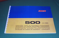 Manuale catalogo parti di ricambio carrozzeria FIAT 500 R