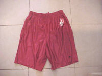 NWT MENS FILA SPORT PERFORMANCE ATHLETIC GYM SHORTS RED