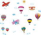 Animals Hot Air Balloon Plane Removable Kids Wall Decal Vinyl Stickers Art Decor