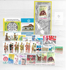1991 MNH Indonesia year complete according to Michel system