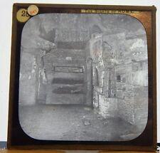 Antique Glass Slide Catacombs Rome  Italy  Magic Lantern