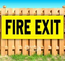 FIRE EXIT Advertising Vinyl Banner Flag Sign Many Sizes ARROW