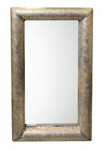 Hand-tooled Moroccan Metal Mirror 23 x 40