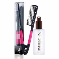 Herstyler V Comb Pink and Herstyler Argan Oil Hair Serum Pack of 2