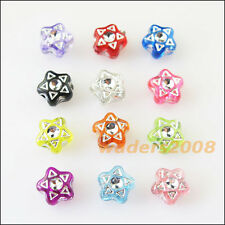 120 New Charms Mixed Acrylic Plastic Five-pointed Star Spacer Beads 7mm