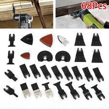 68PCS Oscillating Multi tool saw blades Bi-Metal Cutter DIY universal USA