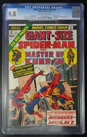 Giant Size Spider-Man & Master of Kung Fu Marvel Comic #2 CGC 9.8