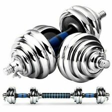 20Kg Cast Iron Dumbbell Set For Weight Lifting Fitness Workout Barbell Home Gym